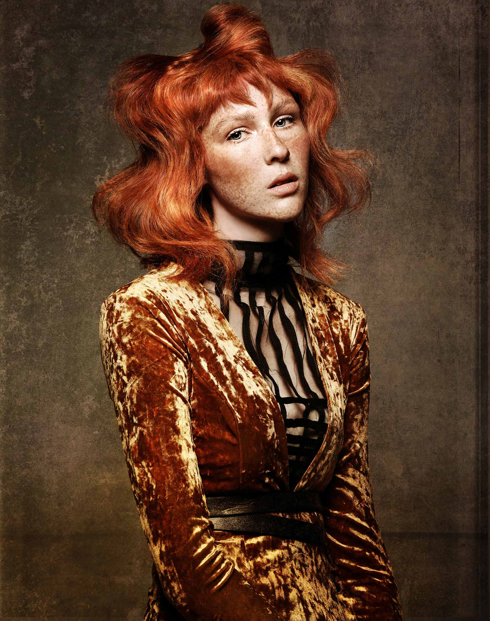 naha-winner-master-stylist-2020-redhead-freckles-julie-vriesinga-paula-tizzard-hair-collection